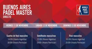 Horarios del streaming del Buenos Aires Padel Master 2016