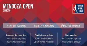 Horarios del streaming del Mendoza Open 2016