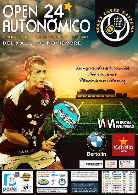Streaming de las finales del Open 24* Sport Pádel Paterna