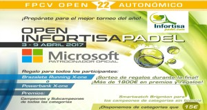 streaming de la final del Open Autonómico 22* Infortisa Padel