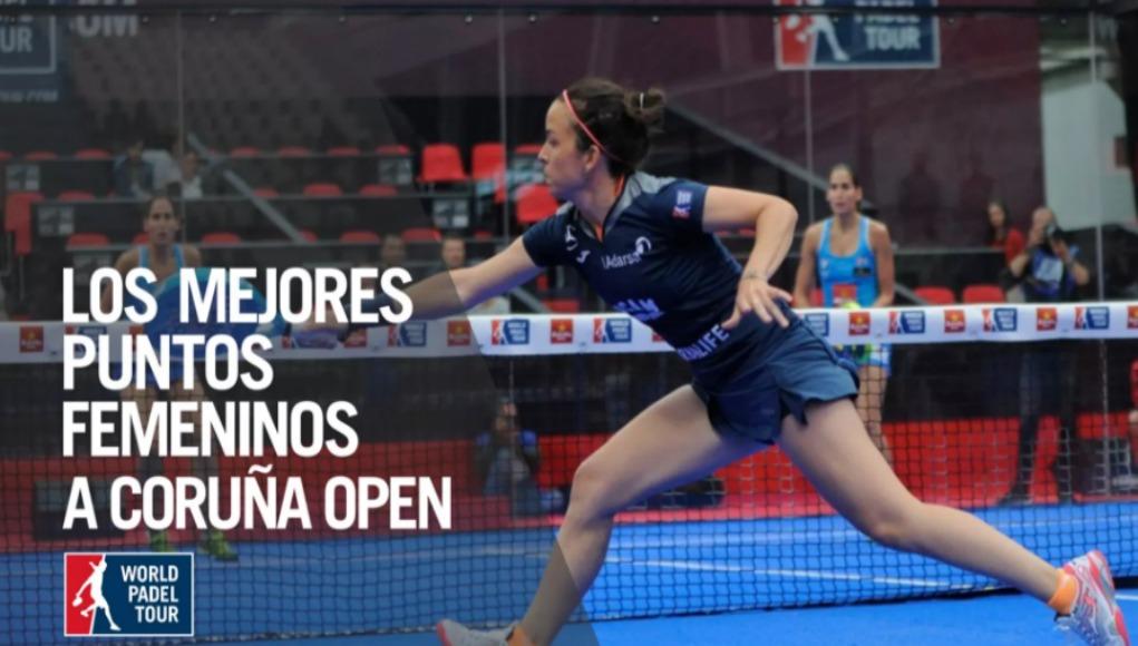 Los tres mejores puntos femeninos en el A Coruña Open