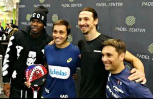 Bela y Matías Díaz estuvieron en la inauguración de Padel Zenter, el club de Zlatan Ibrahimovic