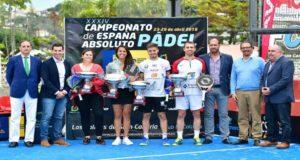 Foto de la FEP - Campeones del Campeonato de España Absouto de Pádel