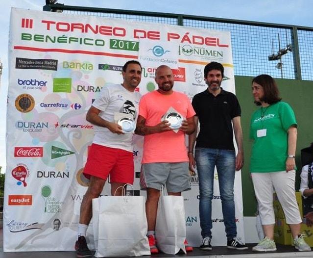Vencedores del pasado Torneo Benéfico de Pádel Fundación NUMEN