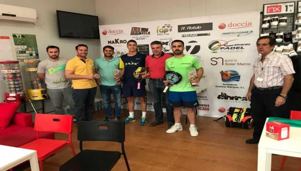 Fran Jurado, Pablo Díaz, Irene Gómez y Carolina Gago, campeones del ABS 1000 Mamparas Doccia