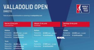 Horarios del streaming del World Padel Tour Valladolid Open 2018