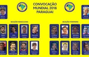 Convocatoria de la Selección Brasileña para el Mundial de Pádel 2018