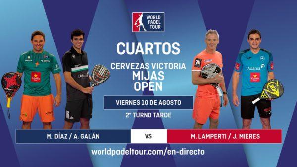 En directo los cuartos de final masculinos del Cervezas Victoria Mijas Open 2018