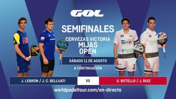Imagen de World Padel Tour - semifinales del turno de mañana del Mijas Open 2018