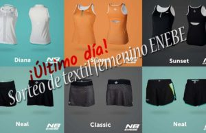 ¡Último día para participar en el sorteo de textil femenino de ENEBE Padel!