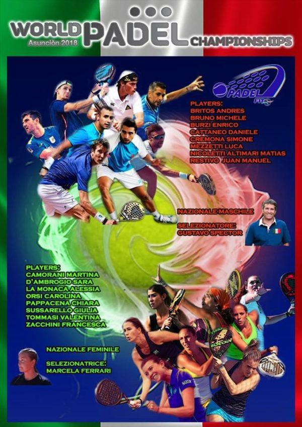 Convocatoria de Italia para el Mundial de Pádel 2018