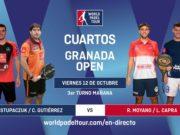 En directo los cuartos de final masculinos del World Padel Tour Granada Open 2018