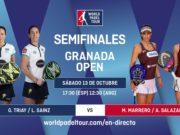 En directo las semifinales del turno de tarde del World Padel Tour Granada Open 2018