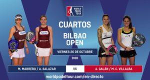 En directo los cuartos de final femeninos del World Padel Tour Bilbao Open 2018