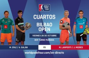 En directo los cuartos de final masculinos del World Padel Tour Bilbao Open 2018