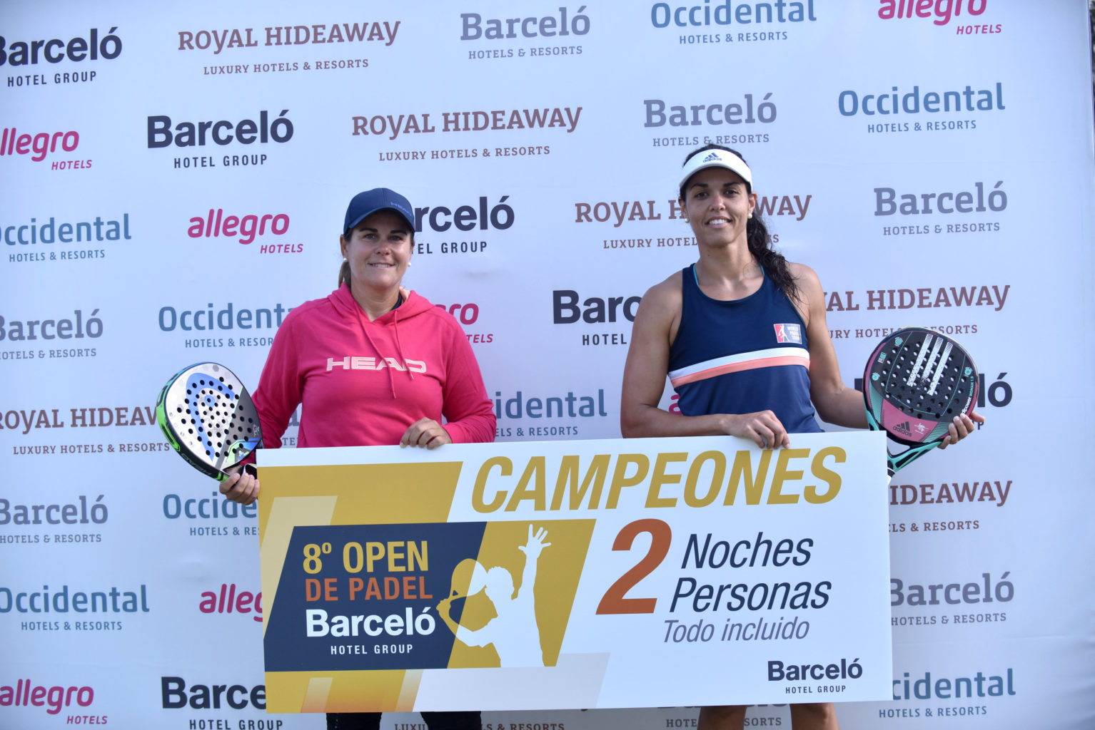 Campeonas Open de Pádel Barceló Hotel Group