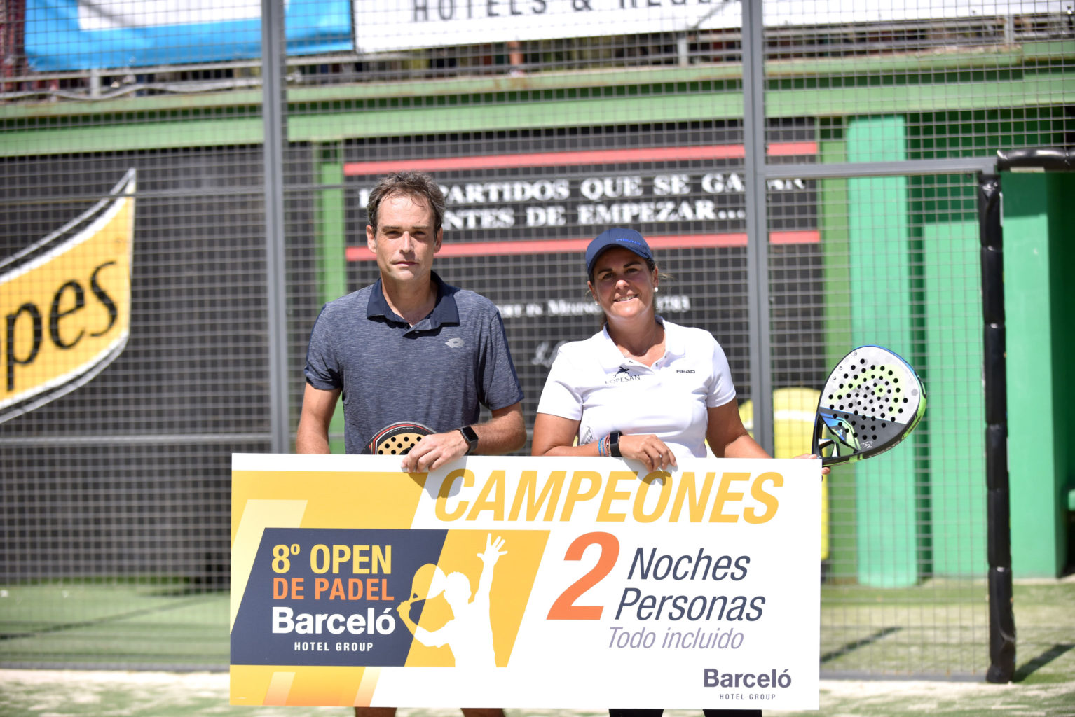 Campeones Mixtos Open de Pádel Barceló Hotel Group