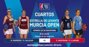 En directo los cuartos de final femeninos del Estrella de Levante Murcia Open 2018