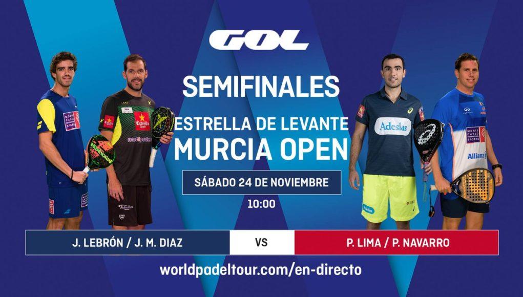 Streaming de las semifinales del Murcia Open