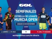 Streaming de las semifinales del Murcia Open