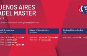Imagen de World Padel Tour - Horarios del streaming del Buenos Aires Padel Master 2018