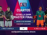 En directo la primera jornada de los cuartos de final masculinos del Estrella Damm Master Final 2018