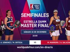 En directo la jornada de tarde de semifinales del Estrella Damm Master Final 2018