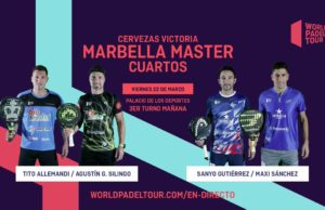 En directo los cuartos de final masculinos del Cervezas Victoria Marbella Master 2019