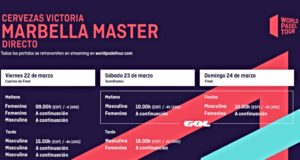 Horarios del streaming del Cervezas Victoria Marbella Master 2019