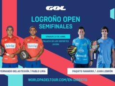 En directo las semifinales del turno de mañana del World Padel Tour Logroño Open 2019