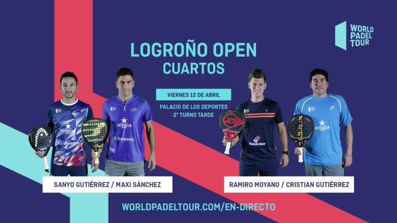 En directo los cuartos de final masculinos del World Padel Tour Logroño Open 2019