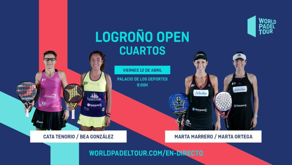 En directo los cuartos de final femeninos del World Padel Tour Logroño Open