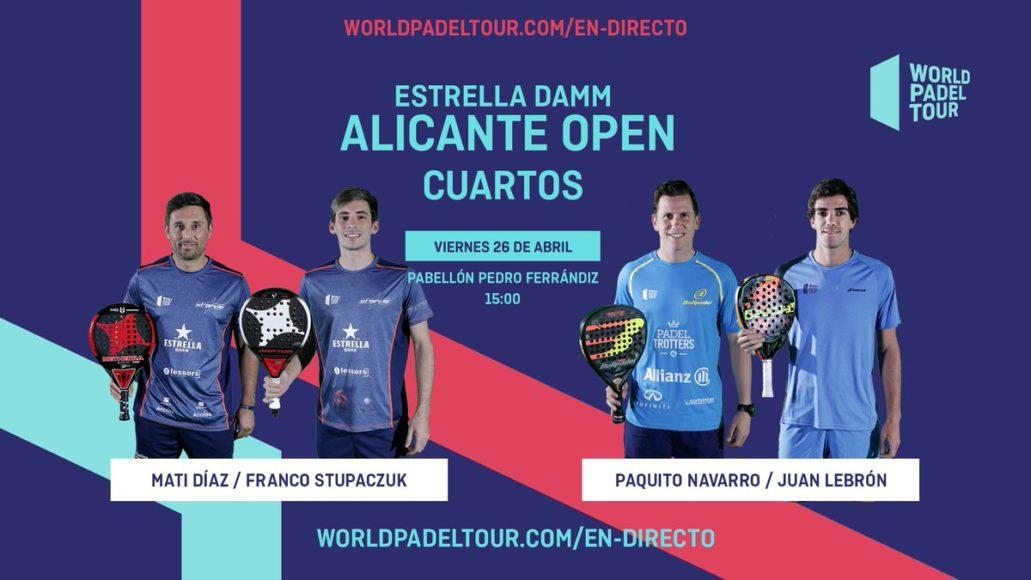 En directo los cuartos de final masculinos del Estrella Damm Alicante Open 2019