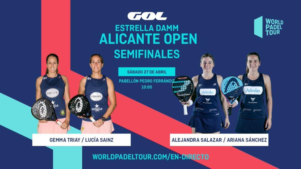 En directo las semifinales de mañana del Estrella Damm Alicante Open 2019