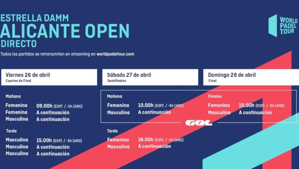 Horarios del streaming del Estrella Damm Alicante Open 2019