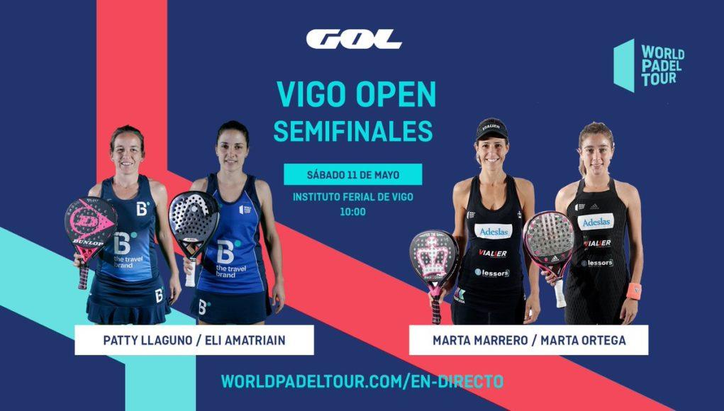 En directo las semifinales del turno de mañana del World Padel Tour Vigo Open 2019