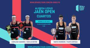 En directo los cuartos de final femeninos del Alisea Ledus Jaén Open 2019