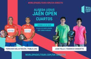 En directo los cuartos de final masculinos del Alisea Ledus Jaén Open 2019