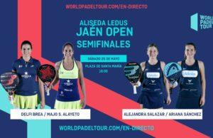 En directo las semifinales del turno de tarde del Alisea Ledus Jaén Open 2019