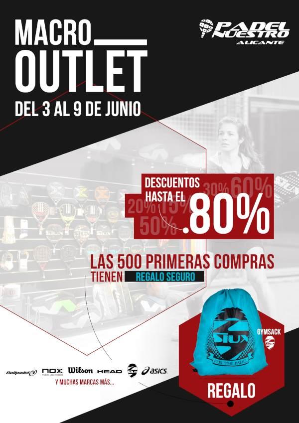La tienda Padel Nuestro Alicante prepara un Macro Outlet del 3 al 9 de junio con grandes ofertas para todos los clientes