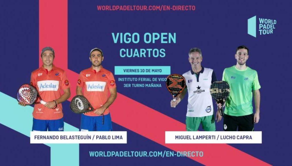 En directo los cuartos de final masculinos del World Padel Tour Vigo Open 2019