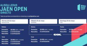 Horarios del streaming del Alisea Ledus Jaén Open 2019