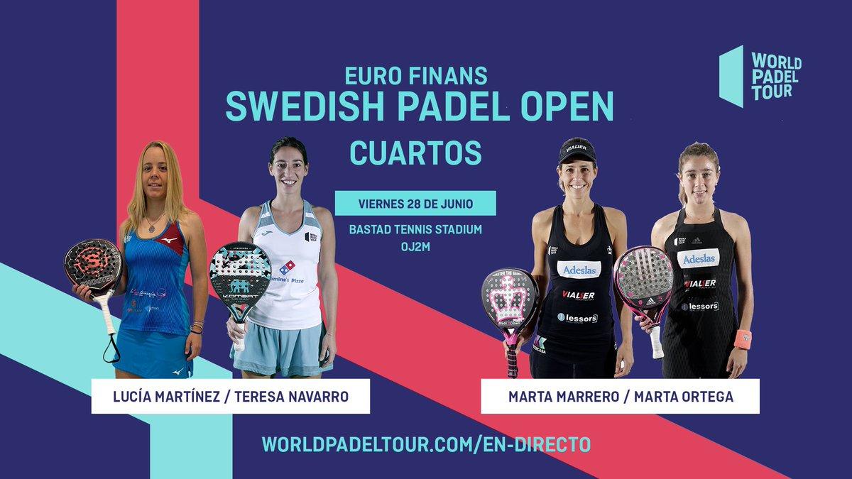 En directo los cuartos de final femeninos del Euro Finans Swedish Padel Open 2019