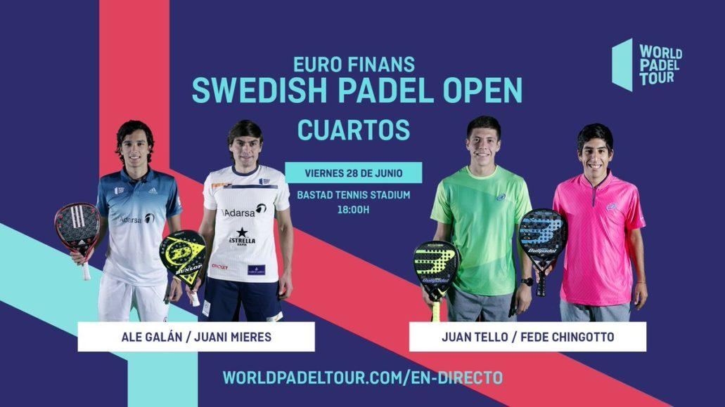 En directo los cuartos de final masculinos del Euro Finans Swedish Padel Open 2019