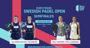 En directo las semifinales femeninas del Euro Finans Swedish Padel Open 2019
