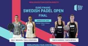 En directo las finales del Euro Finans Swedish Padel Open 2019