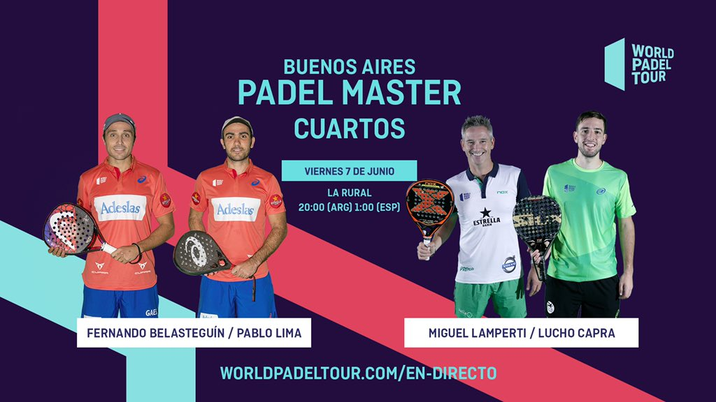 Streaming de los cuartos de final del Buenos Aires Padel Master