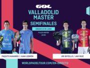 En directo las semifinales del turno de mañana del World Padel Tour Valladolid Master 2019
