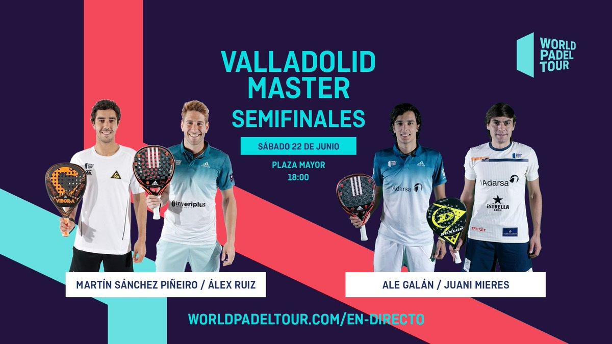 En Directo Las Semifinales Del Turno De Tarde Del World Padel Tour Valladolid Master 2019