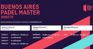 Horarios del streaming del Buenos Aires Padel Master 2019